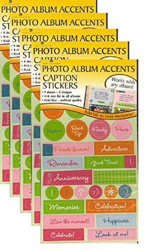 New Seasons Photo Album Accents Caption Stickers 5-Pack