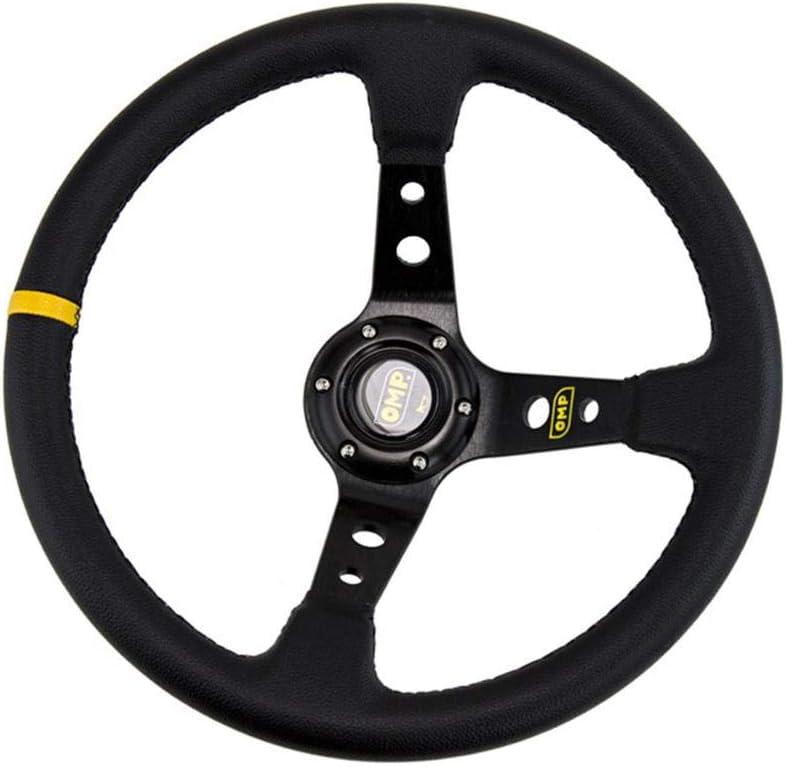 earlyad Volante Universale OMP modificato in Pelle PVC Volante da Corsa Similpelle 14 Pollici 350 mm