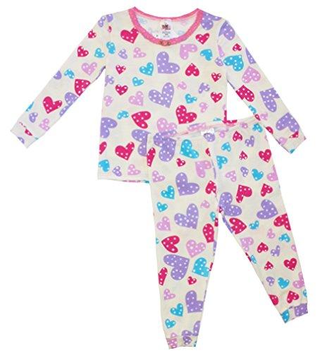 Confetti Pajamas (Esme Girls Comfortable Snug Fit L/S Sleepwear Pajamas 10 Confetti Hearts)