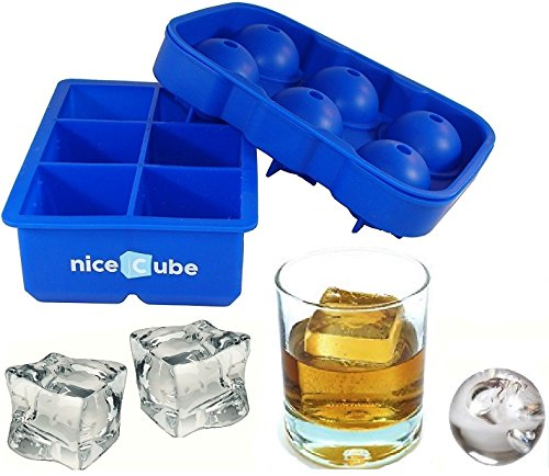 niceCube Large Ice Cube Tray, Whiskey Ice Ball Set