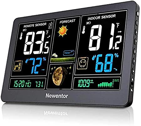 Weather Station Wireless Indoor Outdoor Digital Thermometer Sensor Color Display