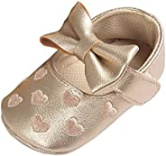 Zhengpin Cute Bowknot Heart Toddler Crib Shoes Infant Baby Girl Soft Sole Shoes Prewalker