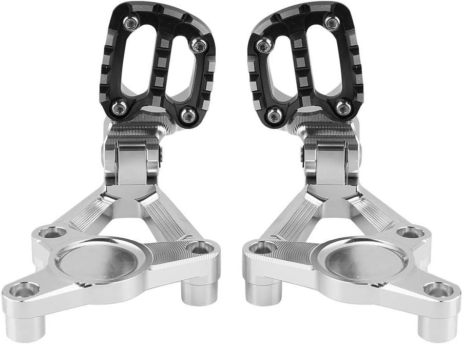 Repose-Pieds arri/ère Couleur : Argent 2 Couleurs Kit Repose-Pieds Repose-Pieds Passager arri/ère for Motocyclette Compatible avec Honda X-ADV 750 17-19