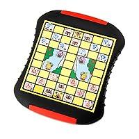 Dovewill 子供 知育 教育用 ジャングルチェス 動物チェスボードゲーム パズル ギフト プラスチック製の商品画像