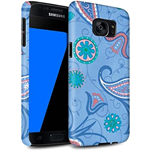 STUFF4 Matte Tough Shock Proof Phone Case for Samsung Galaxy S7/G930 / Blue/Pink Design / Springtime Collection Sales