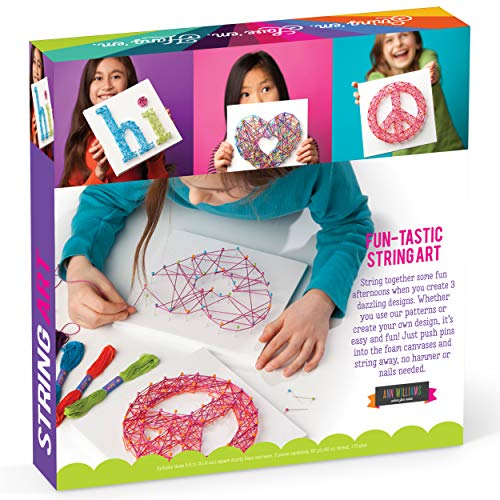 Craft-Tastic DIY String Art – Award-Winning Craft Kit for Kids – Everything Included for 2 Fun Arts & Crafts Projects…