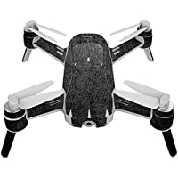 Skin For Yuneec Breeze 4K Drone – Black Leather   MightySkins Protective, Durable, and Unique Vinyl Decal wrap cover   Easy To Apply, Remove, and Change Styles   Made in the USA