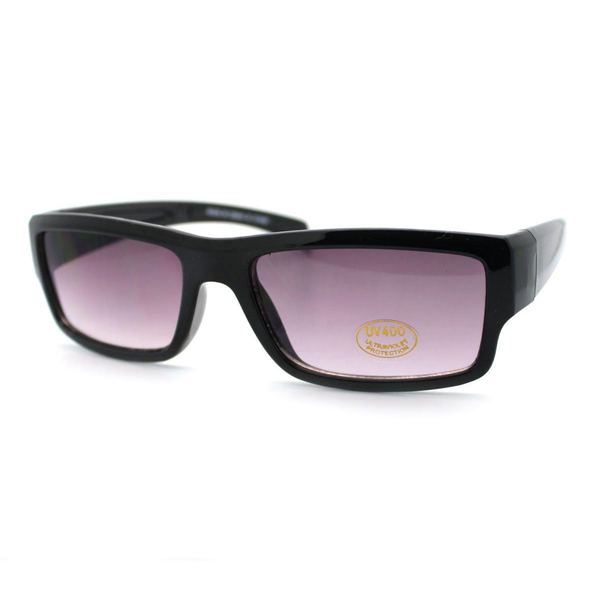 Mens Narrow Lens Rectangular Classic Sunglasses