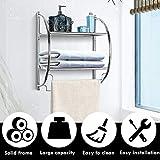 TANGKULA Wall Mount 2 Tier Bathroom Shelf with
