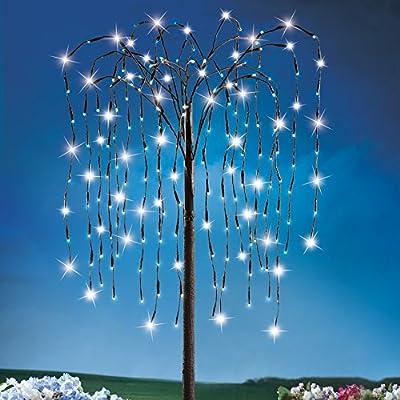Solar Outdoor Willow Branch Tree