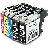 5x Tintenpatrone mit Neusten Chip kompatibel zu Brother LC123 LC125 LC121 für Brother DCP-J552DW / MFC-J470DW / MFC-J650DW / MFC-J870DW /DCP-J132W / DCP-J152W / DCP-J172W / DCP-J752DW / DCP-J4110DW / MFC-J245 / MFC-J4410DW / MFC-J4510DW / MFC-J4610DW / MFC-J4710DW / MFC-J6520DW / MFC-J6720DW / MFC-J6920DW
