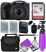 Canon Black PowerShot SX420 + 32GB SD + Accessory Bundle