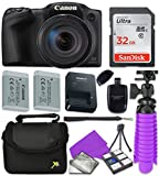 Canon Black PowerShot SX420 + 32GB SD + Accessory Bundle For Sale