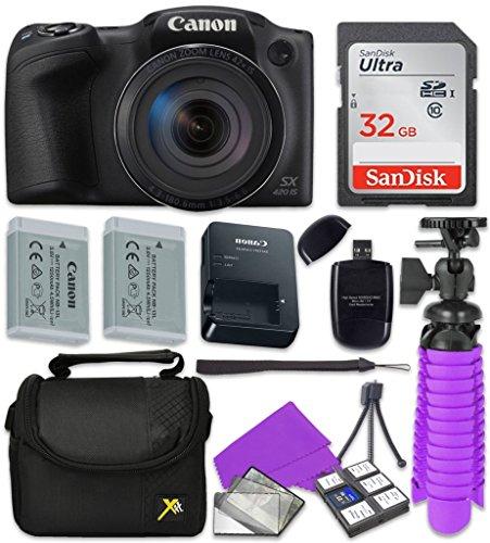 Canon Black PowerShot SX420 + 32GB SD + Accessory (Canon Powershot Sd Series)