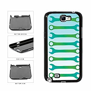 Green Wrench Pattern TPU RUBBER SILICONE Phone Case Back Cover Samsung Galaxy Note II 2 N7100