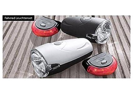 Aldi Procycle muy clara con luces LED para bicicleta faro y luz antiniebla 2 teilig incluye