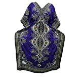 Womens Bohemian Kaftan Purple Dashiki Printed Caftan Beach House Dress Kaftan XXL