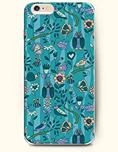SevenArc Apple iPhone 6 Case 4.7 Inches - Butterfly and Cute Owl and Little Singing Bird