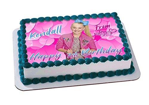 Jojo Siwa Joelle Joanie Siwa Edible Cake Image Topper Personalized