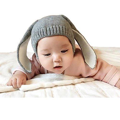 Way Be Live Baby Winter Warm Knit Hat Infant Toddler Kid Crochet Rabbit Ears Beanie -