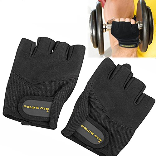 Golds Gym Classic Training Gloves, Workout Gloves, Weightlifting, Fitness, Exercise (Small)