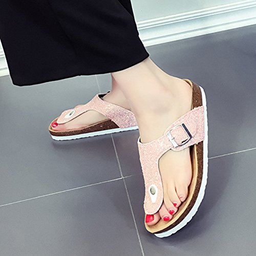 Femme Tongs Chaussures Pink Sandales Paillettes Para Unisexes ZongSen Sandales Chaussures ntvIqZYZ