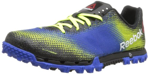 (Reebok Men's All Terrain Sprint Running Shoe,Neon Yellow/Vital Blue/Black/White,8 M US)