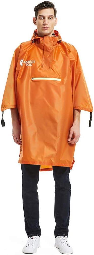 Sttech1 Mens Womens Raincoat Portable Reusable Rain Poncho,Waterproof Black Lightweight Belted Hooded Military Waterproof Mountaineering Raincoat