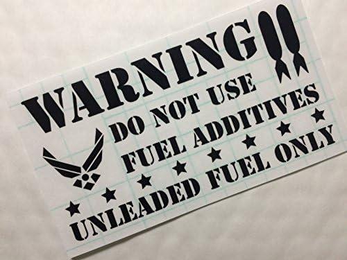 給油口ステッカー U.S エアフォース風 レギュラー (ブラック)