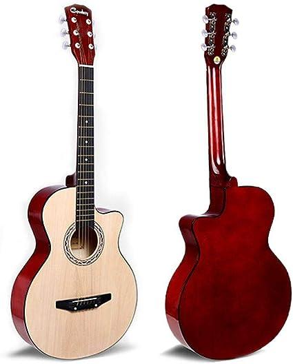 Conjunto de guitarra acústica JJOnlineStore, de color marrón ...