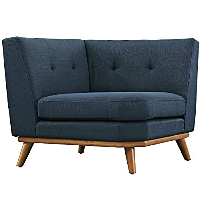 Modway Engage Mid-Century Modern Upholstered Fabric L-Shaped Sectional Sofa in Gray -  - living-room-furniture, living-room, accent-chairs - 51dPGYfLM6L. SS400  -