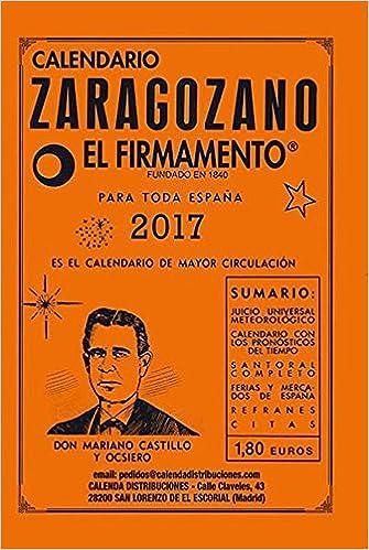 Calendario Mariano.Calendario Zaragozano 2017 Amazon Es Mariano Castillo Y