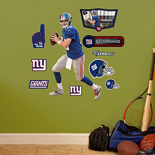 NFL New York Giants Eli Manning Fathead Wall Decal, Junior