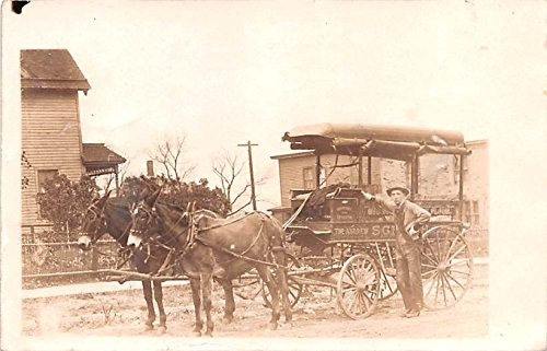 Mule Drawn Grocery Wagon, The Andrew Saint Paul, Minnesota postcard