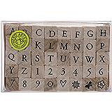 Hero Arts Woodblock Stamp Set, Printer's Type Alphabet