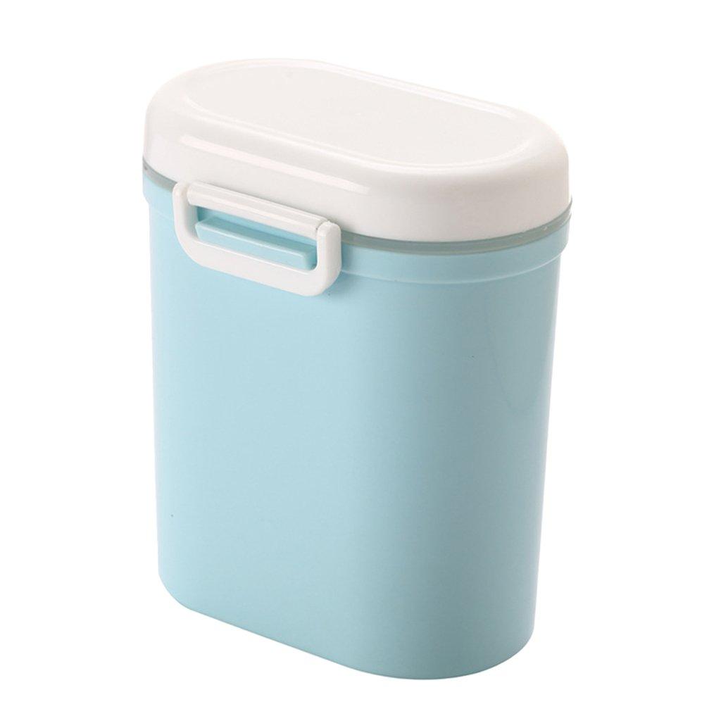Fenteer Boîte de Conservation Lait en Poudre Formule Distributeur de Nourrir Bébé Voyage Portable Snack Tasse - Bleu Grand
