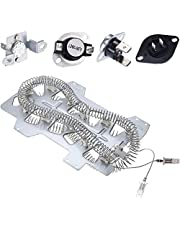 Samsung Dryer Heating Element DC47-00019A, Dryer Repair Kit with DC47-00018A Thermostat, DC47-00016A & DC96-00887A Thermal Fuses and DC32-00007A Dryer Thermistor