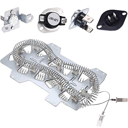 Samsung Dryer Heating Element DC47-00019A, Dryer Repair Kit with DC47-00018A Thermostat, DC47-00016A & DC96-00887A Thermal Fuses and DC32-00007A Dryer - Element Dryers Heating
