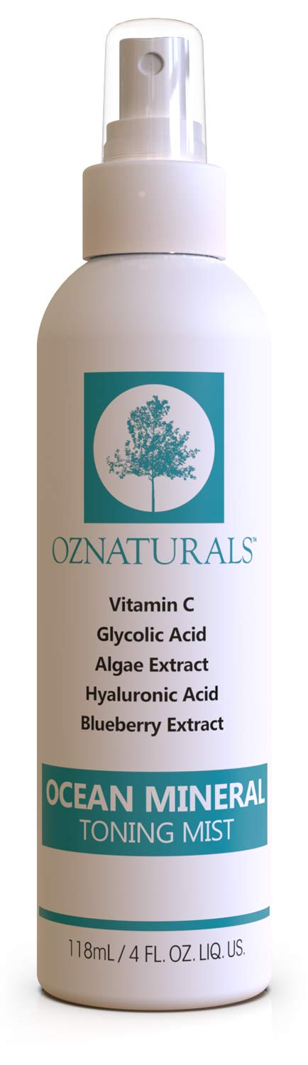 OZNaturals Facial Toner- This Natural Skin Toner Contains Vitamin C, Glycolic Acid & Witch Hazel - This Face Toner Is Considered The Most Effective Anti Aging Vitamin C Toner Available! by OZ Naturals