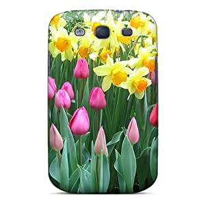 Awesome Daffodils Tulips Flip Case With Fashion Design For Galaxy S3