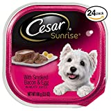 CESAR SUNRISE Wet Dog Food with Smoked Bacon and Egg Souffle Breakfast, (Pack of 24) 3.5 oz. Trays Review