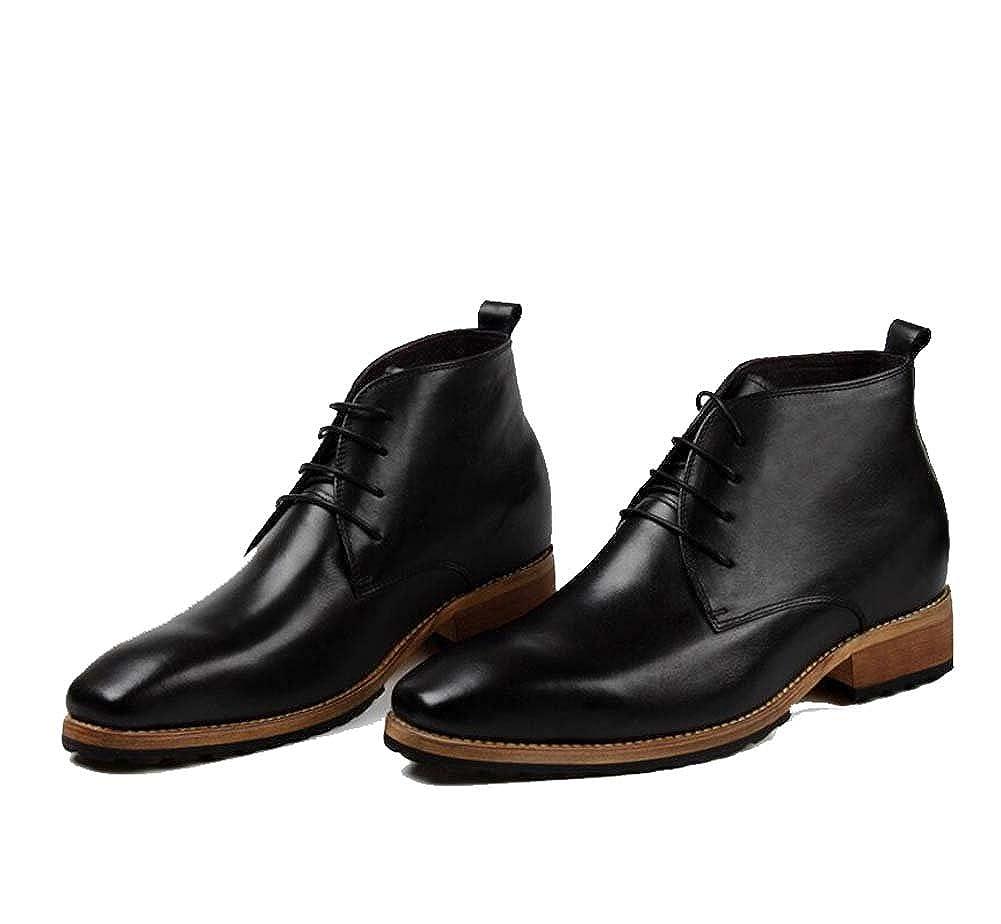 Ankle Stiefel der Männer Britische Koreanische erhöhte Schuhe 8 cm Unsichtbare Höhe Erhöhen Schuhe