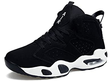 purchase cheap 3b983 d84e8 Femaroly Men s Air Basketball Shoes Shock Absorption Fashion Outdoor Sports  Running Shoes Sneakers Black(High