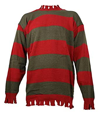 Men's Nightmare On Elm Street Freddy Kreuger Tattered Sweater Deluxe (Teen/Adult XS (Jacket Size 32-34))