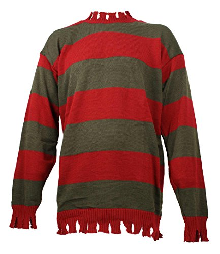 Men's Nightmare On Elm Street Freddy Kreuger Tattered Sweater Deluxe (Standard (up to 44 in. Chest)) - Adult Freddy Sweater