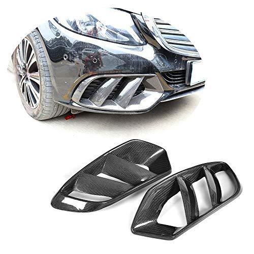 MCARCAR KIT Front Mesh Grill Vent fits Mercedes Benz C Class W205 C180 C200 C250 C300 C400 Base Sedan 2015-2018 Carbon Fiber CF Bumper Fog Lamp Intake Grille Outlet Canard Fender Scoop (Fiberglass)
