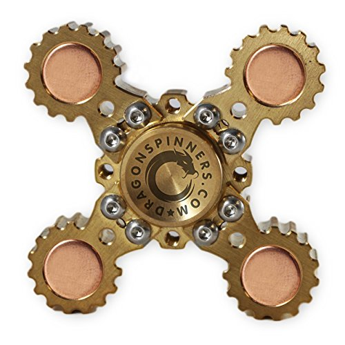 NEW 2017 ORIGINAL DRAGON SPINNER 4 Winged Brass Hand Fidget Spinner Toy EDC Luxury Helps You Focus And Reduce Stress SPINS UP TO 6 MINUTES!
