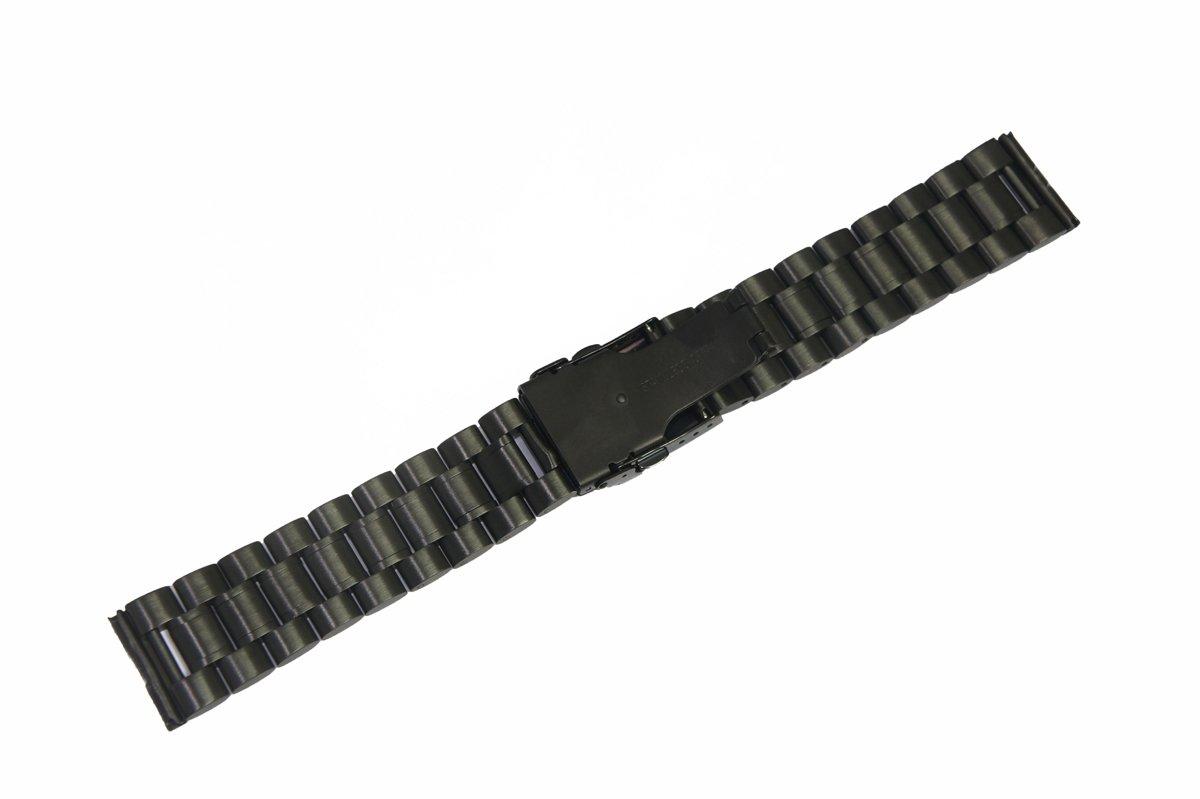 @ccessory Pulsera de Repuesto para Sony SmartWatch 2 SW2, 24mm Acero Inoxidable Correa (Negro)
