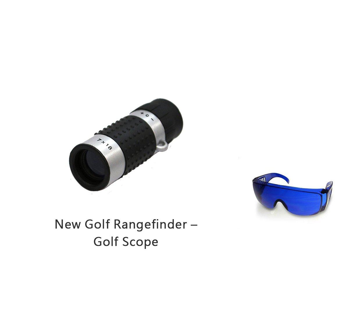 Posma GF100B Bundle set Golf Rangefinder High Definition Mini Monocular Pocket Scope + Golf Ball Finder Hunter Retriever Glasses