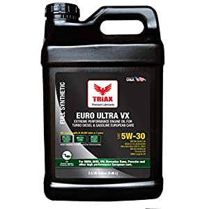 Triax EURO ULTRA VX 5W-30 - Longlife III Full Synthetic Engine Oil - VW 507.00/504.00, VW Audi 502.00, 505.01, BMW LL-04, Porsche C30, ACEA C3, Mercedes 229.51, 229.5, 229.31 (2.5 GAL)